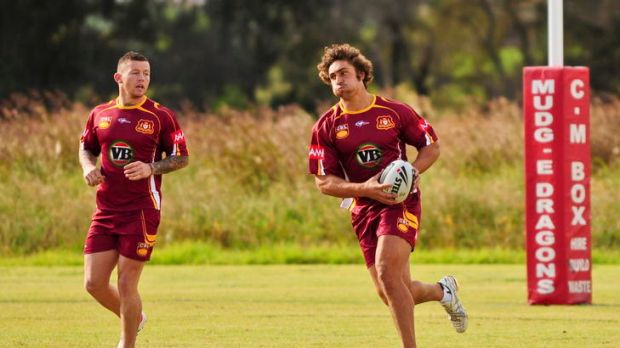 Tom Learoyd-Lahrs in action at Country training this week.