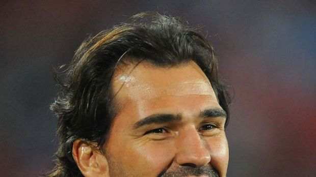 Interested bystander ... Victor Matfield watches his former team the Bulls play the Lions in Super Rugby last weekend.