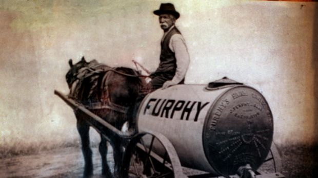 Forged from rural life: a Furphy water tank.