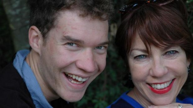 Kathy Lette and son Julius, who has Asperger's syndrome.