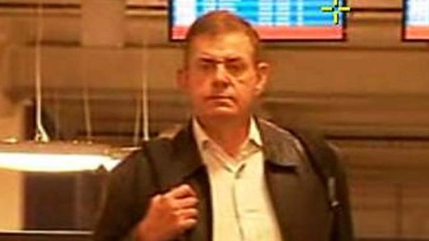 Under investigation ... Peter Slipper at LAX Airport yesterday.