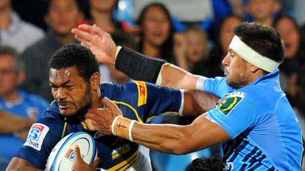 Flying start ... Brumbies winger Henry Speight scored a try in the 10th minute.