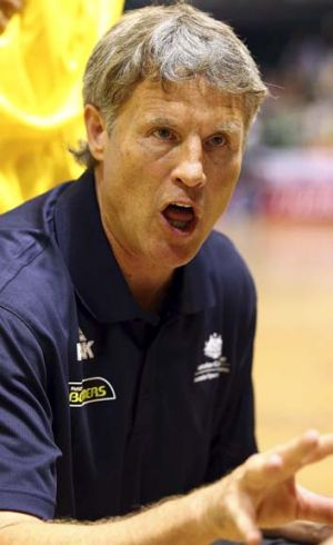 Upbeat … Boomers coach Brett Brown.