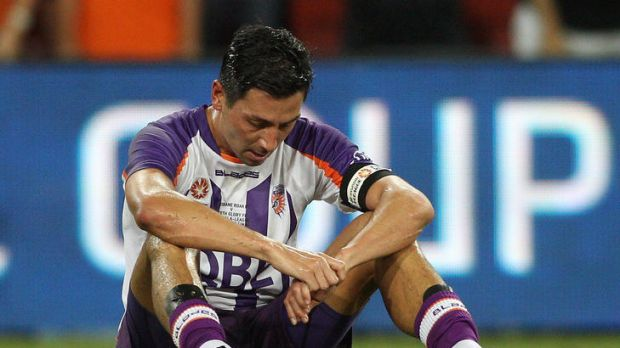 Shattered ... Perth Glory skipper Jacob Burns.