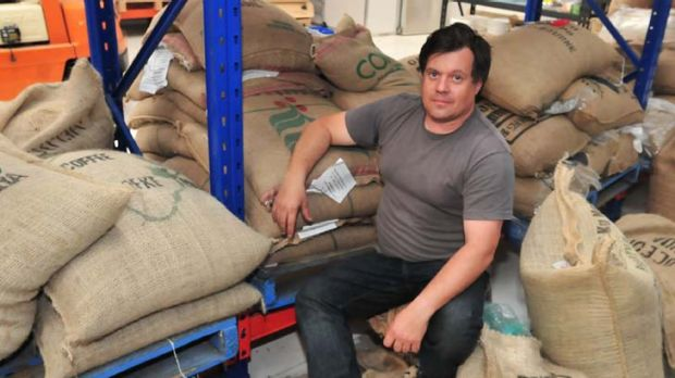 Magic beans … for Bill Parianos, the work flows from bags to cups, with roasting of up to two tonnes of coffee a ...