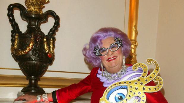 Downsizing ... too much Dame Edna is too much, says curvaceous star.