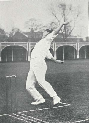 """Pace ace ... Albert """"Tibby"""" Cotter on a tour of England in 1905."""