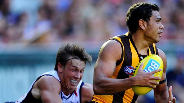 The Hawks and Cyril Rioli are looking at keeping the ball for as long as possible.