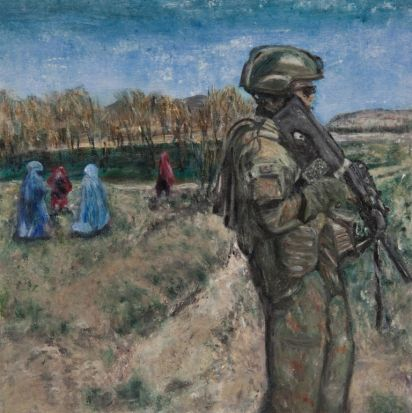 Afghanistan dreaming freedom. Artist Mary Hunt.