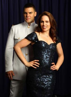 Ben Mingay and Amanda Harrison, stars of <em>An Officer and a Gentleman</em>.