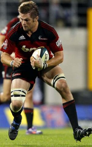 First game of the season ... Richie McCaw has been named on the bench for match against the Waratahs