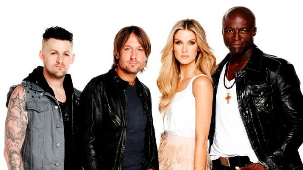 <i>The Voice</i> mentors (from left) Joel Madden, Keith Urban, Delta Goodrem and Seal appeal because of their positive ...
