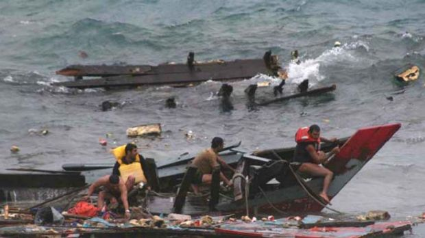 """''There was nowhere on Christmas Island to moor it""""  ... 50 people died when an asylum seeker boat sank off Christmas ..."""