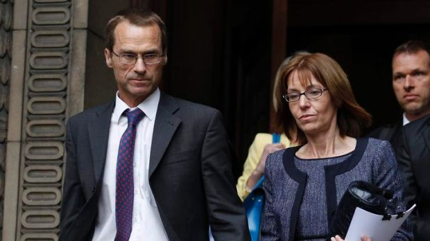 At the inquest ... Ian (left) and Ellen Williams and Cerri Subbe (hidden), the mother, father and sister of British MI6 ...