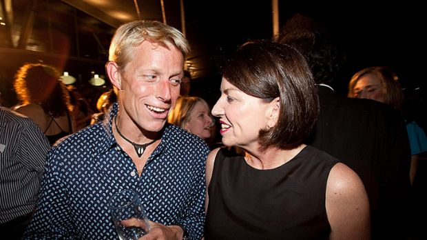 Ben Southall with then-premier Anna Bligh after winning the Best Job competition.
