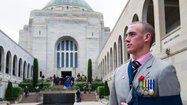 Afghanistan veteran Mitchell Judd at The Australian War Memorial after the National Ceremony.