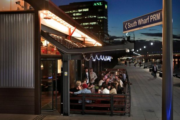 The Bridge restaurant at South Wharf Promenade.