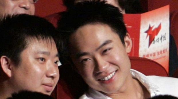 Speaking out ... Bo Guagua (R), son of China's former politician Bo Xilai.