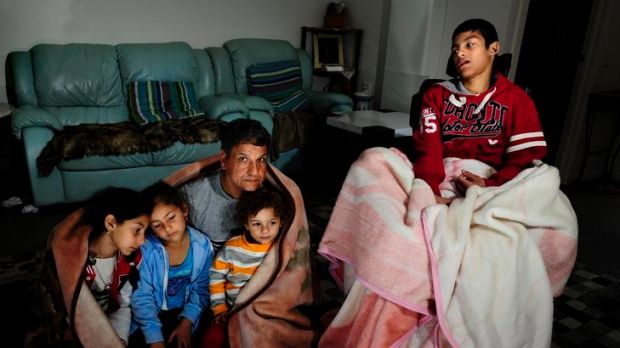 ACT government housing tenant, Shehata Mohamed with his children, (from left) Rola, 12, Rua, 6, Rayan, 2, and Ramy, 15. ...