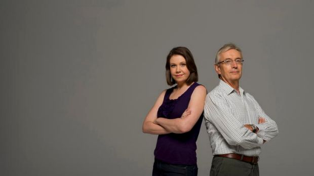 Head to head ... Anna Rose and Nick Minchin offer opposing views on climate change.