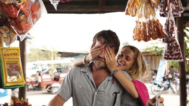 Calm before the storm … Joel Edgerton and Teresa Palmer have a wild night in Cambodia which takes a strange turn ...