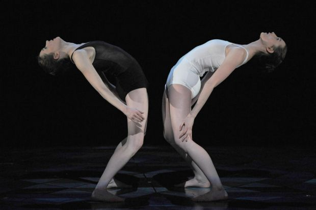 "Dancers perform in ""Panorama"", a play by French choreographer Philippe Decoufle."