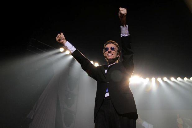 """Robin Gibb performs at the Brisbane Entertainment Centre as part of his """"An Evening of Bee Gees Greatest Hits"""" tour, ..."""