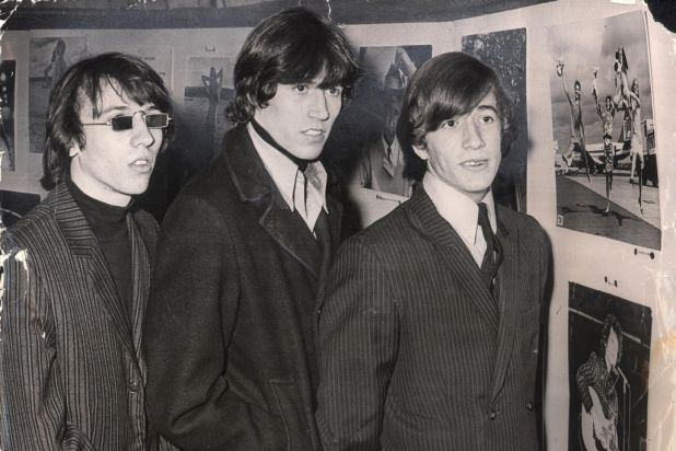 The Bee Gees ... Maurice, Barry and Robin Gibb in Sydney.  Photo: David Wicks