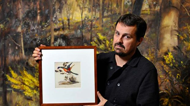 Comedian Sean Dooley proves that people have been drawing lorikeets since at least 1795.
