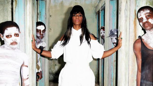 Santigold, aka Santi White, (centre) enjoyed taking greater control, and gaining greater confidence, with the making of ...