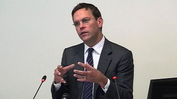 Grilled ... News Corp Deputy Chief Operating Officer, James Murdoch, speaking at the Leveson Inquiry.
