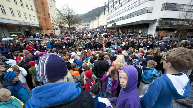 Thousands of Norwegians gathered in Oslo to protest against mass murderer Anders Behring Breivik.