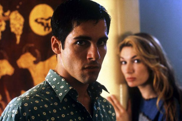 1995: Alex Dimitriades and Loene Carmen in the great true-crime drama 'Blue Murder'.
