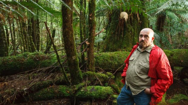 Tarkine National Coalition member Scott Jordan on a trail in Tasmania's Tarkine that could be under threat if mining ...