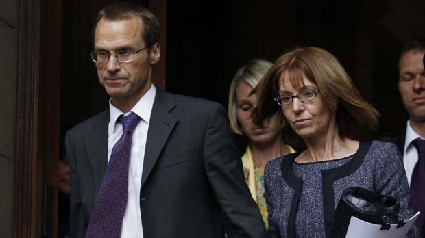 The family of British MI6 agent Gareth Williams leave an inquest into his death. His parents Ian and Ellen Williams, ...