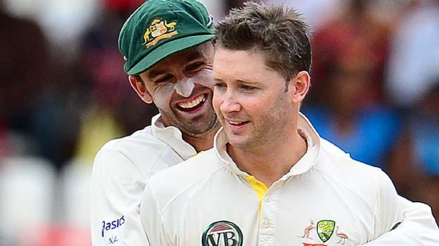 Australian captain Michael Clarke claimed his second five-wicket haul of his Test career.