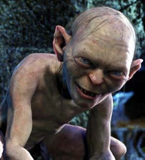 Gollum from <em>The Lord of the Rings</em>.