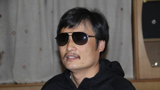 Blind legal activist Chen Guangcheng.