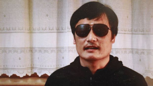 "Idealistic but realistic: Chen Guangcheng is seen on a video posted on YouTube. ""I am now free. But my worries have not ..."