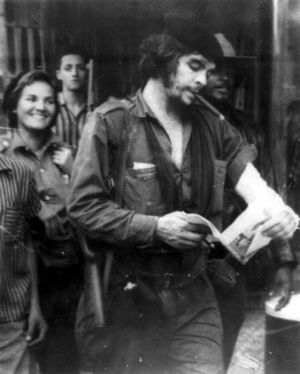 Che on a trip around Cuban provinces in 1959.
