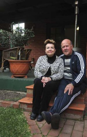 Lyn and Neville Cox … 40 years on he was listed with ''bad people''.