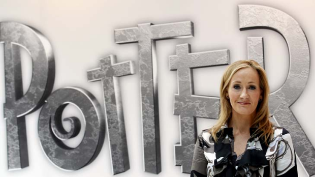 British author JK Rowling, creator of the Harry Potter series of books, poses during the launch of new online website ...