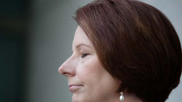 'A line has been crossed' ... Julia Gillard in Canberra yesterday.