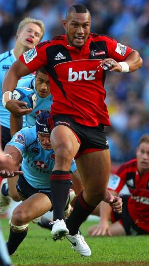Devastating ... Crusaders centre Robbie Fruean.