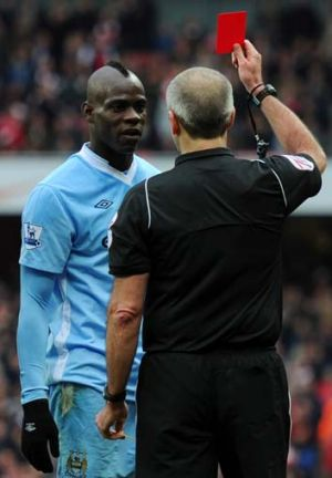 Controversial ... Mario Balotelli could figure in the Manchester derby.