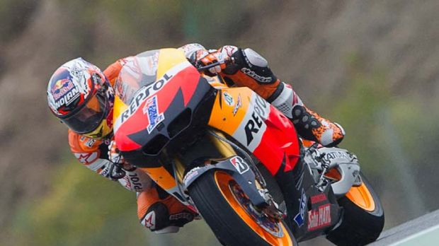 Ready to win … Casey Stoner rediscovered his form on the Repsol Honda for his first win in Spain.