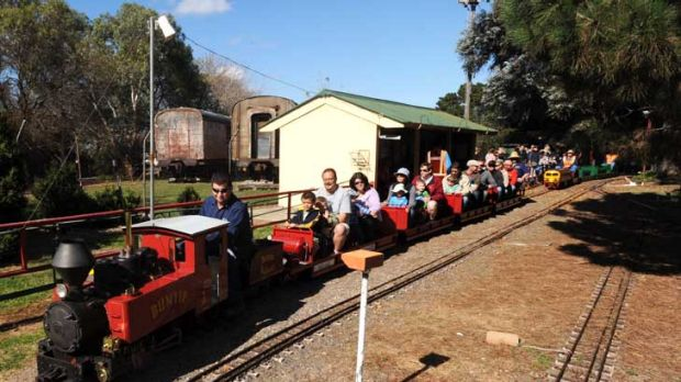 Reluctant move ... the Kingston Miniature Railway is being moved to Symonston to make way for development.