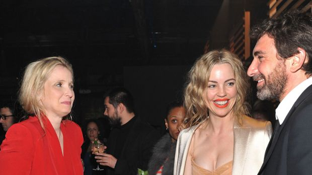 French connection ... Julie Delpy chats with Melissa George and Jean David Blanc.