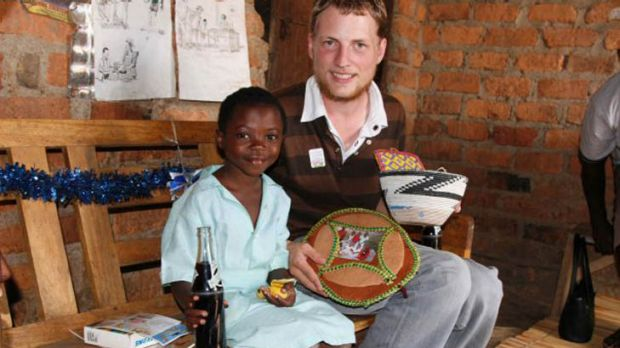 Stewart Orme, pictured here on a visit to his sponsor child, posted online in November 2009.
