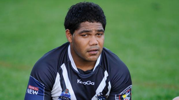 Pie man  ... Chris Sandow after playing for Wentworthville Magpies on Saturday.